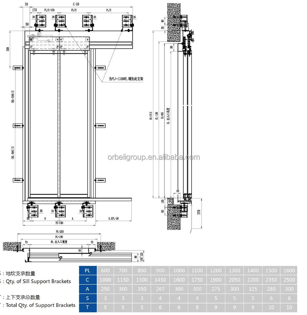 Elevator Installation Manual : Elevator lift landing door device hanger