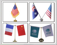 Various National Table Flag
