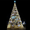 3D Outdoor Holiday light warranty 2 years LED large optical fiber christmas tree hanging decorations