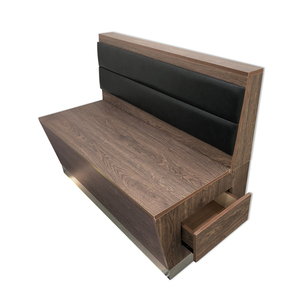 Industrial Look Vintage Restaurant Sofa Bench Booth Seating With Storage Drawer Function