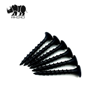 Good selling Black gypsum phosphated bugle head  coarse thread  oxidir drywall screw price