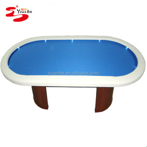 84inch Delux LED Light Casino Style Poker Table with wooden legs