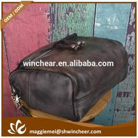 Customized real leather handbag, hard leather handbag, retro bags