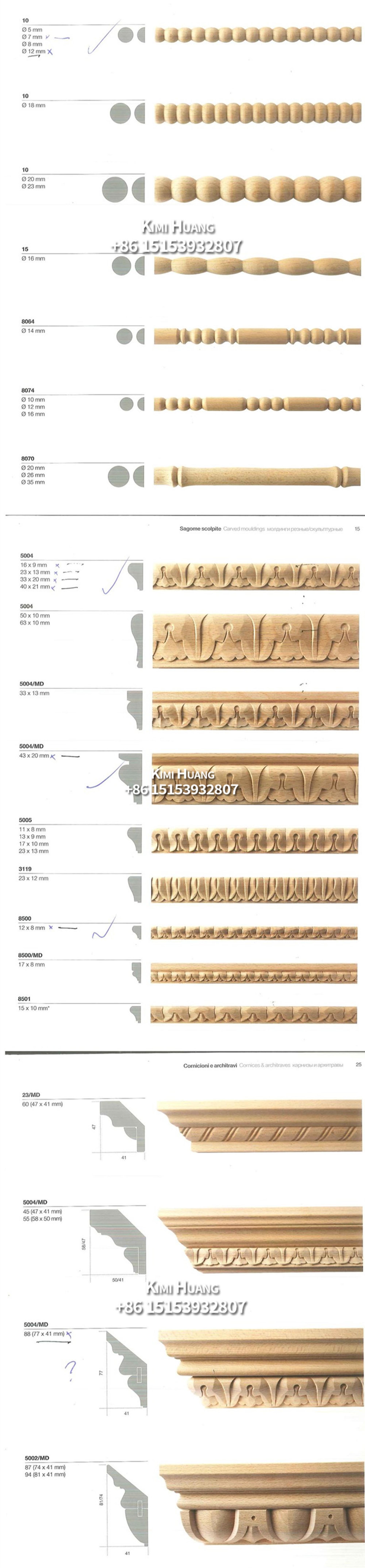 Hohe Qualität Engineered Holz Moulding Solide Holz Rahmen Leisten ...