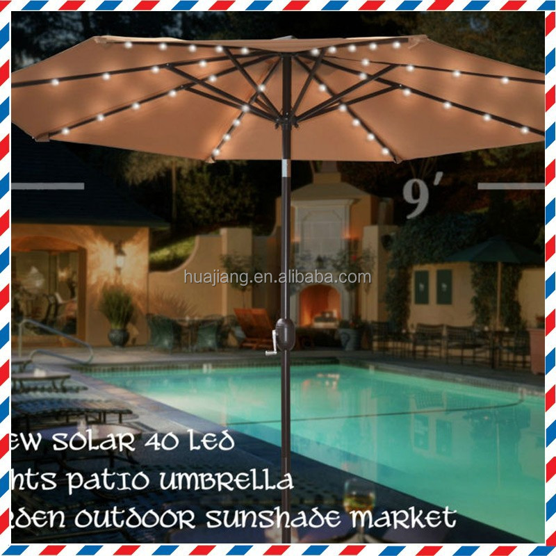 custom outdoor large led patio umbrella light