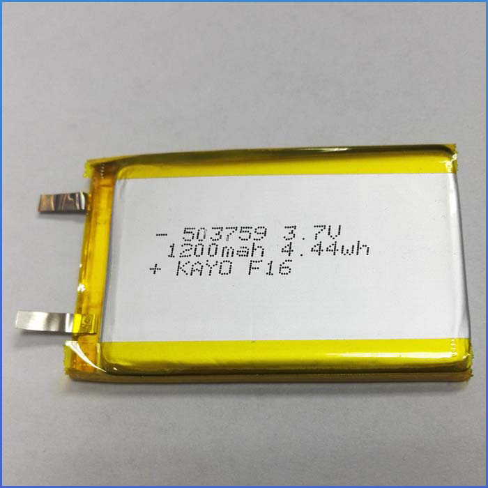 Rechargeable 3.7V 1200mAh li-polymer li ion lipo lithium polymer li-ion battery 503759 for smart home