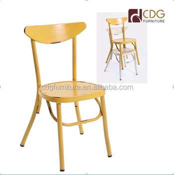 Classic Mainstays Stackable Super Industrial Vintage Cafe Chair Retro Metal  Restaurant Used Chair Cafe