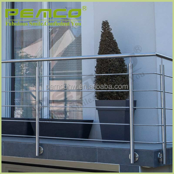 Made in china PEMCO wholesale 316 304 fire resistance stainless steel pipe stair handrail