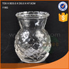 118g high quality clear decal decorative glass flower vase