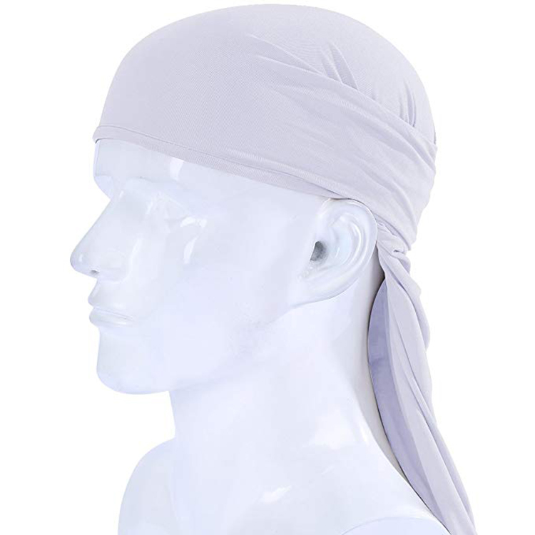 100% white polyester fabric bandana