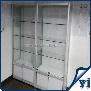 Glass Display Cabinet,Aluminum Framed Counters,Kiosk Cabinet,Aluminum Alloy  Glass Display Rack
