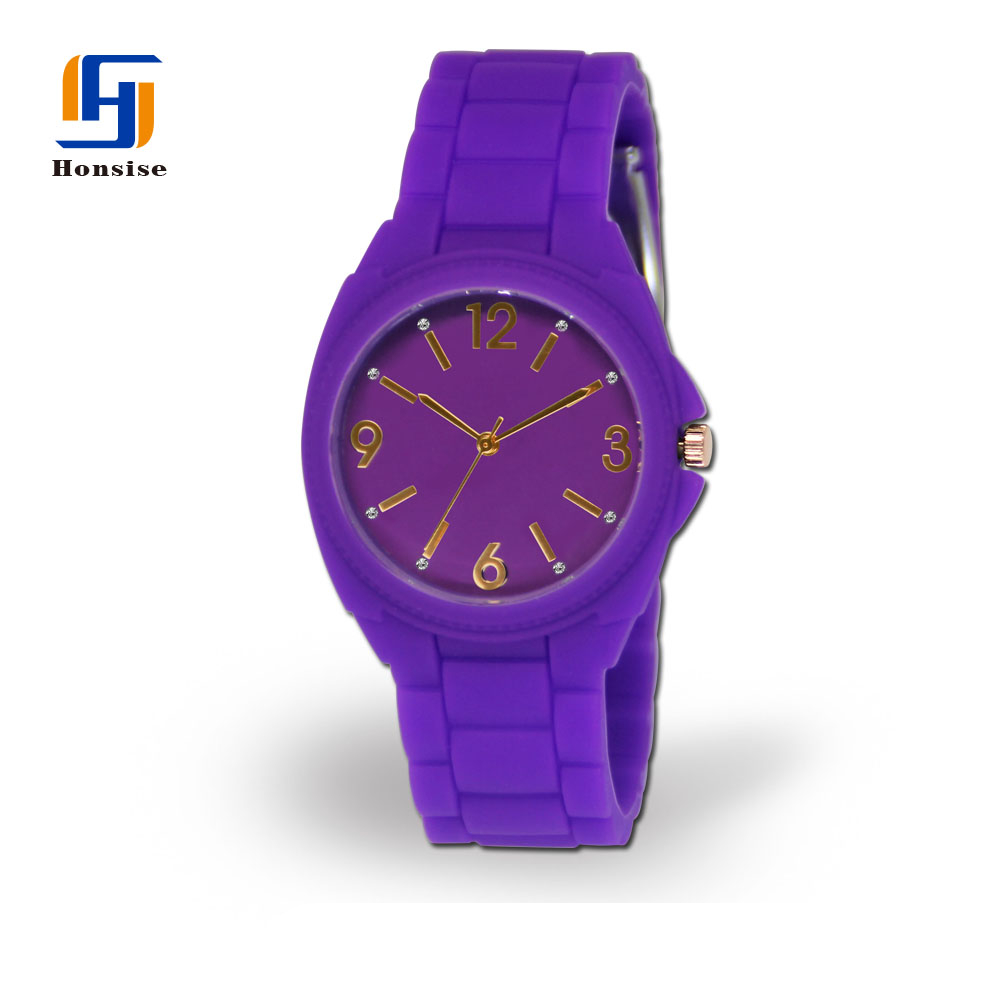 China Manufacturer Silicone Jelly Quarts Analog Wrist Watch For Sports