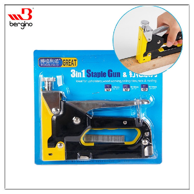 BGN-BD7D1 Bogelinuo 3 In 1 Sharp Shooter Heavy Duty Staple Gun