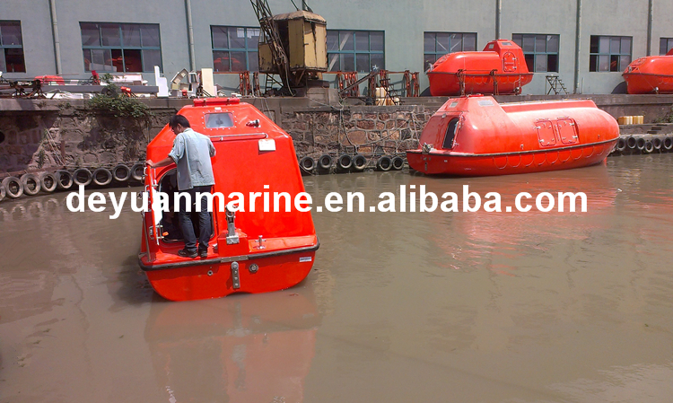 Used Lifeboat For Sale Totally Enclosed Type Fiberglass Life Boat ...