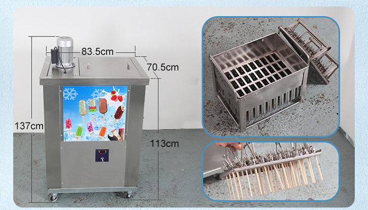 The popsicle equipment manufacturer 2 moulds Popsicle machine/ice lolly popsicle maker