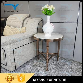 2017 Modern Design 3 Legs Round Side Table Stainless Steel