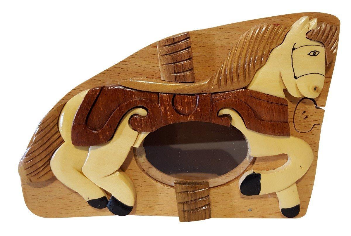 Handmade Horse Pony 3 Wooden Money Box Piggy Bank (4748)