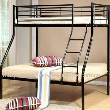 Steel Pipe Heavy Duty Strong Military Bunk Bed Triple Metal Bunk