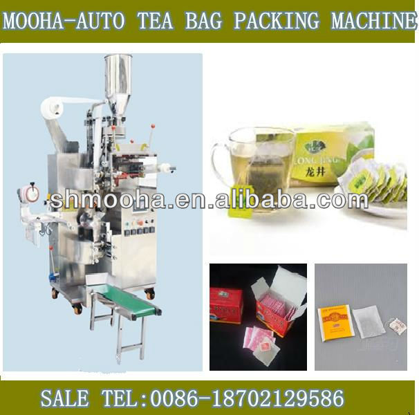 loose leaf tea packing machine/tea factory equipment /outer and inner/thread and tag