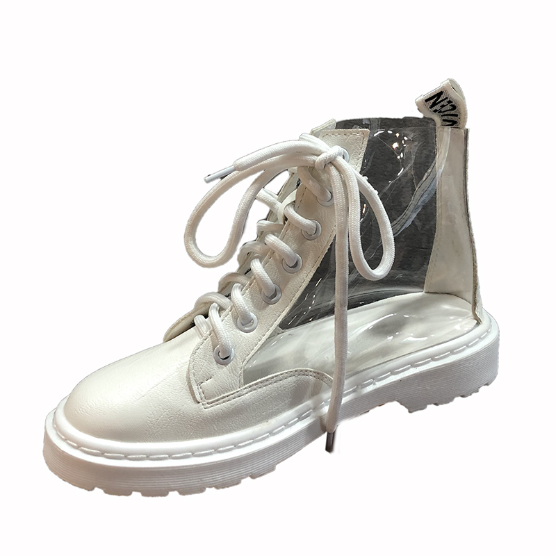 boots style tube New shoes transparent British student women casual short Martin design IFSqqUTE1