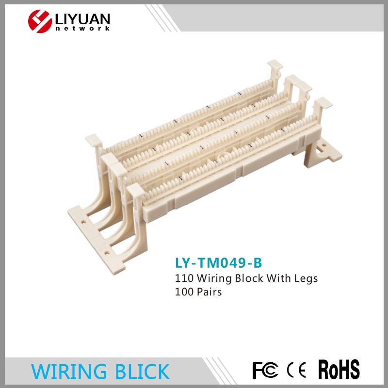 LY-TM049-B 100 pairs 110 wiring block / wiring terminal block with legs / 110 type electrical connection block