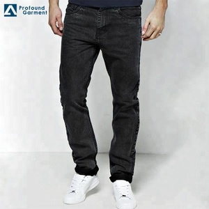 China Manufacturers Direct Wholesale Custom Your Own Brand Quality Stylish  Denim Pants Mens Black Jeans