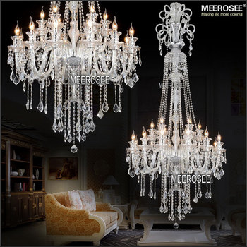 2 Meter Luxury Long Design Crystal Chandelier Lighting Clear Crystals Large Md2456 L18