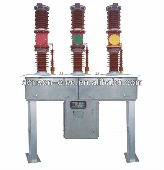 Outdoor vacuum circuit breaker, 12kv, 24kv, 36kv, ZW30-40.5 type