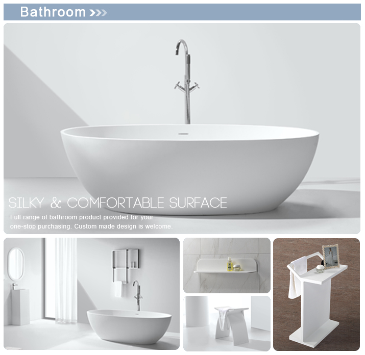 KKR Zero Water Absorption Two Person Freestanding Round Bath Tub , Black  Color Bath Bathtubs