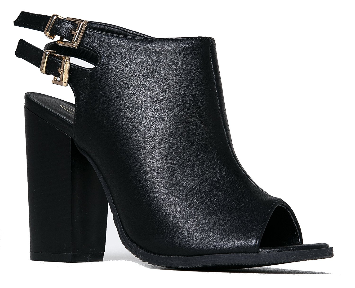 13a27b81a25 Get Quotations · MarBel Anne Marie Sarah-11 Peep Toe Bootie -Stacked High  Heel - Open Toe