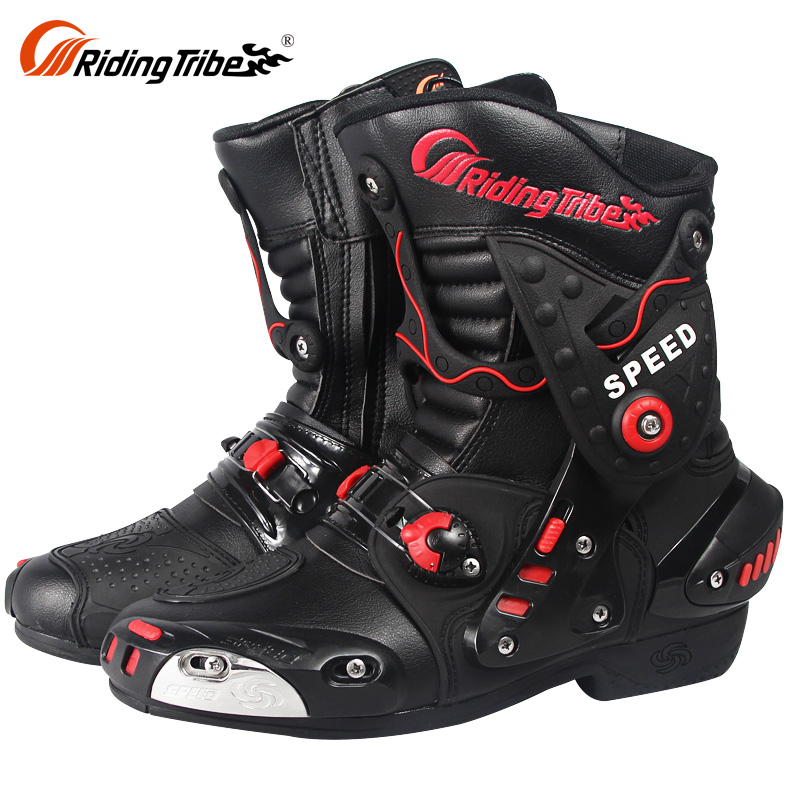Boots Leather Bike Motocross Shoes Waterproof Street Safety Motorbike wqggRz8
