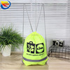 Marathon reflective blank polyester drawstring sports bag