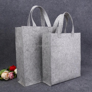 Hot selling custom logo felt shopping bags felt shopper tote bag