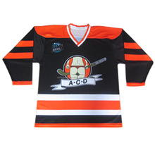 Custom Black Ice hockey jersey training shirts for new hockey team league