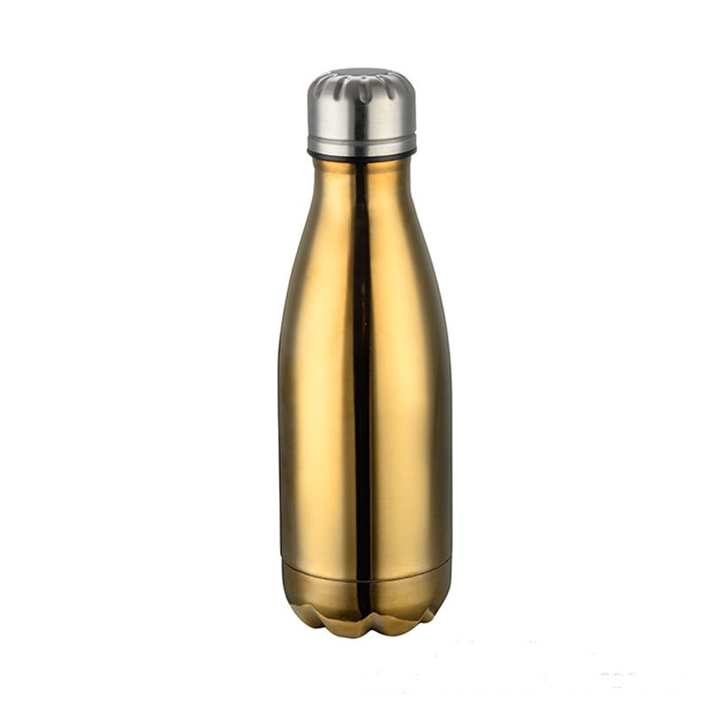 500ml Gradient color Double Walled Stainless Steel Cola Shape Water Bottle Outdoor Sports Vacuum Insulated Water Bottle