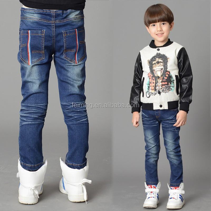 3fa20c70e Nuevo Estilo De Moda De Los Niños De Moda Pantalones Vaqueros De  Diseño