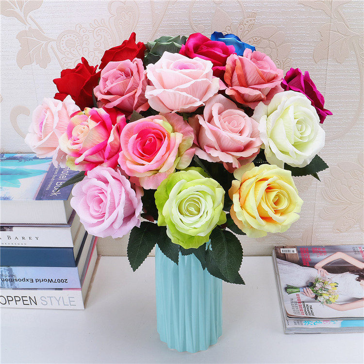 K7602 Wedding Bulk Cheap White Rose Wholesale Artificial Flower