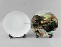 6 8 10 12 14 Inch Wholesale Custom Printed Sublimation Blank White Ceramic Dinner Charger Plates
