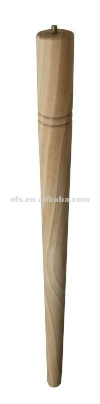 Taps toelopend nuttig ronde massief houten tafelpoten efs a 183 poten van uw meubilair - Houten trap monteer ...
