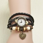 New! Ostrich Women Leather Vintage Watches, Electroplating Ancient bronze Bangles Watch Antique Watches