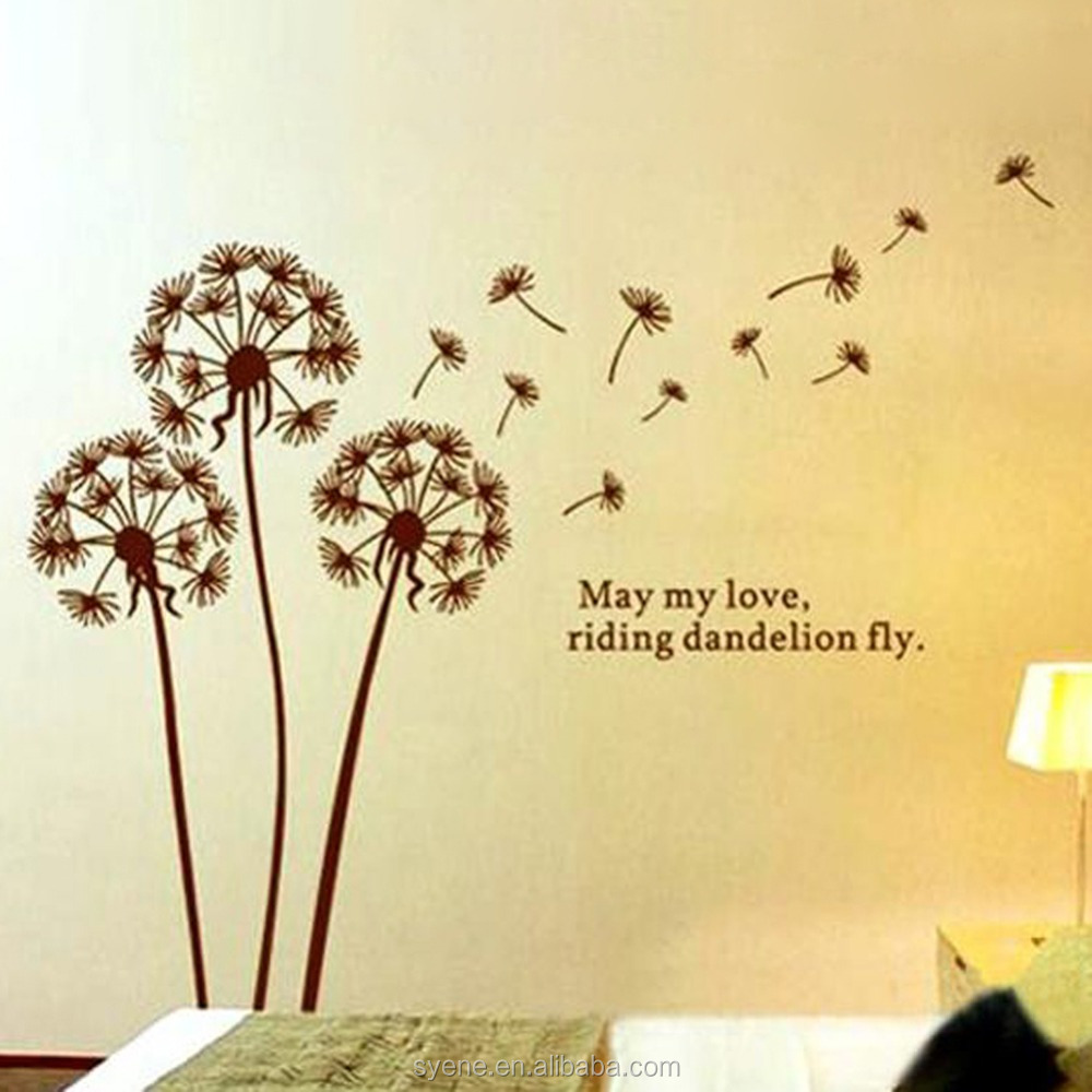 Painting Flower Picture 3d Wall Paper Home Decor Dandelion Wall ...
