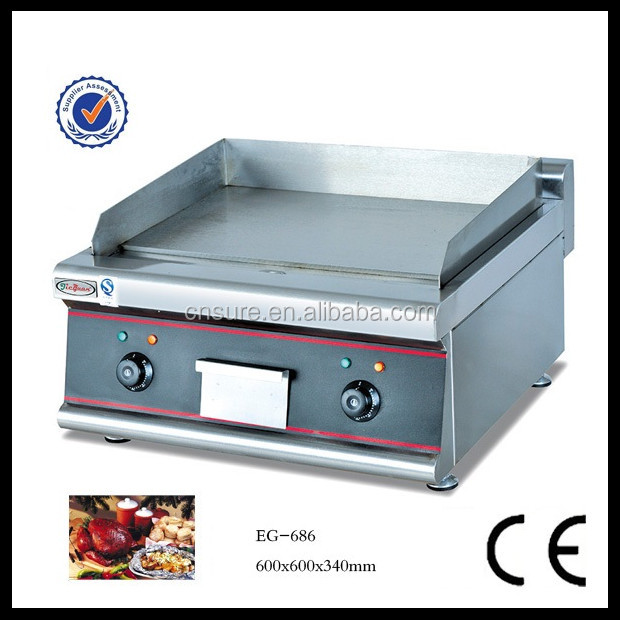 Commercial Counter Top Electric Griddle thickness of griddel:8mm cooking area:550*350mm