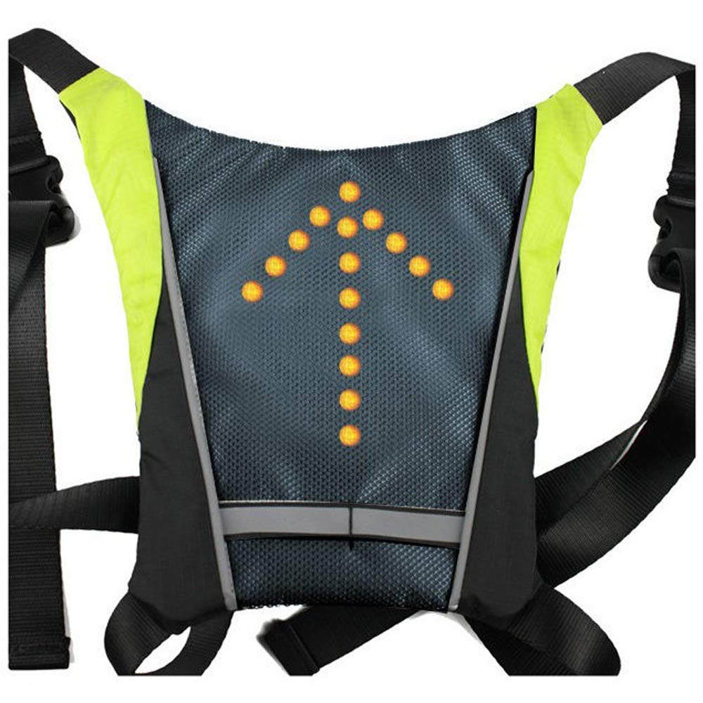 Back To Search Resultssports & Entertainment Led Wireless Cycling Vest Safety Led Turn Signal Light Bike Bag Safety Turn Signal Light Vest Bicycle Reflective Warning Vests Terrific Value