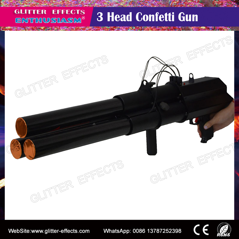 Stage special effects confetti color paper gun/confetti shooter