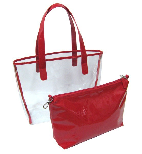 Fashion Transparent Tote Bag Clear Vinyl Bags Plastic Product