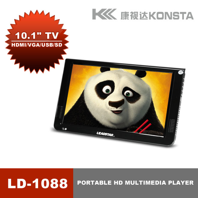 10 Inch ATSC DVB T2 Normal Verison HD Led Portable Tv Media Playera Support VGA Input