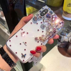 DIY Cell Phone Case For Huawei P20 Pro , Shiny Stone Case For Huawei P20 Pro Crystal Case