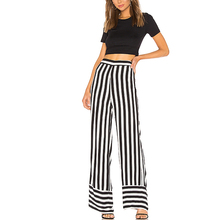 Hot sales wide leg stripes bell bottom <strong>trousers</strong> <strong>pants</strong> <strong>designs</strong> <strong>for</strong> <strong>women</strong>
