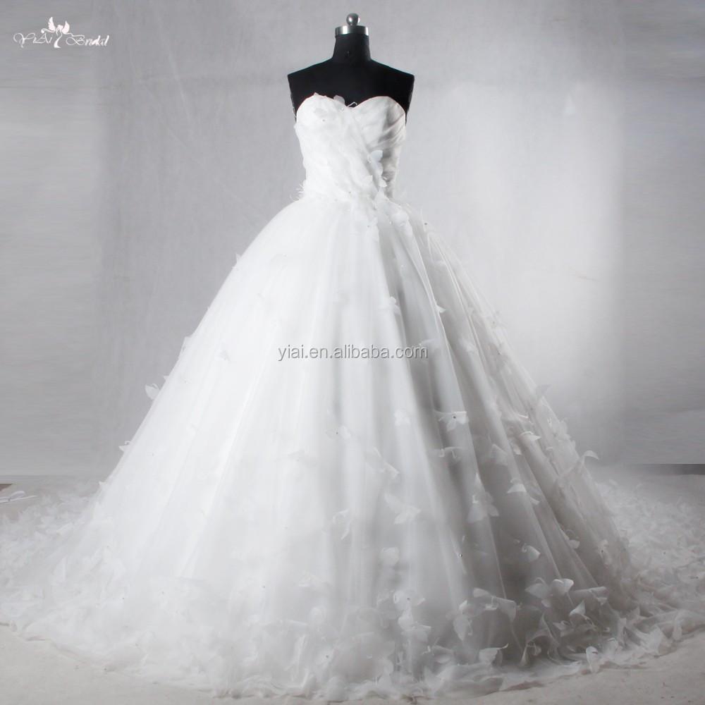 Rsw1031 Puffy Tüll Organza Schmetterling Hochzeitskleid Brautkleid ...