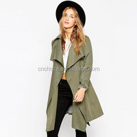 Z61566Y wholesale european fashion women long trench coats